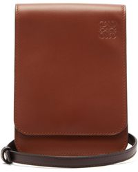 Loewe Gusset Flat Leather Cross-body Bag - Multicolour