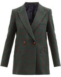 Blazé Milano Checked Wool-twill Blazer - Green