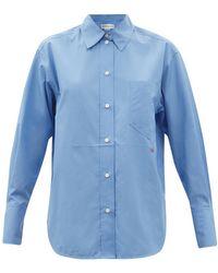 Victoria Beckham オーバーサイズ コットンポプリンシャツ - ブルー