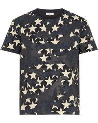 Valentino - Star Camouflage T-shirt - Lyst