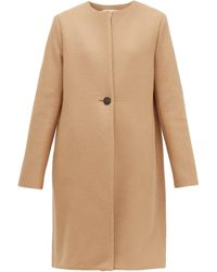 Harris Wharf London Single-breasted Pressed-wool Coat - Natural
