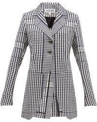 Loewe Checked Single-breasted Canvas Jacket - Multicolour