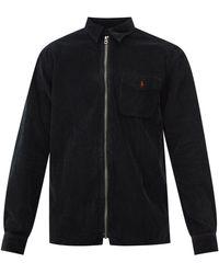 Polo Ralph Lauren ジップアップ コットンコーデュロイシャツ - ブラック