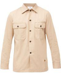 Dunhill コットンツイル オーバーシャツ - ナチュラル