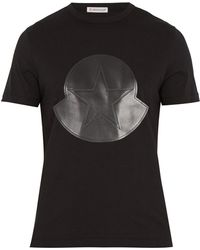 Moncler - Bonded-logo Cotton T-shirt - Lyst