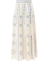 Le Sirenuse カミーユ コットンボイルスカート - マルチカラー