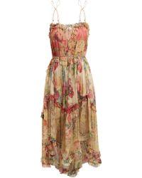Zimmermann - Melody Floating Floral Print Silk Dress - Lyst