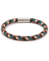 Paul Smith Woven Leather Bracelet - Multicolour