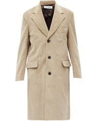 Our Legacy Dolphin Single-breasted Cotton-corduroy Coat - Natural