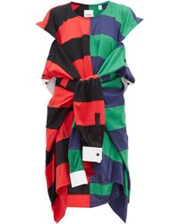 Burberry Reconstructed Rugby Shirt Dress - Red