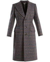 Junya Watanabe - Checked Single-breasted Wool-blend Coat - Lyst