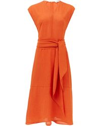 Cefinn サッシュベルト ボイルドレス - オレンジ