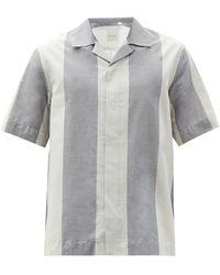 Paul Smith キューバンカラー ストラップ コットンシャツ - グレー