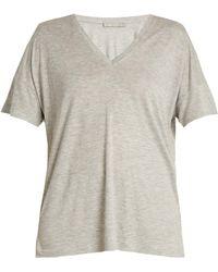 Vince - Dropped-shoulder Jersey T-shirt - Lyst