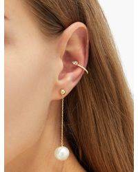 Anissa Kermiche Diamond, Sapphire, Pearl & 14kt Gold Ear Cuff - Multicolour