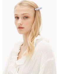 Timeless Pearly Barrette en perles à imprimé fleuri - Bleu