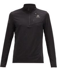Salomon Grid Half-zip Stretch-jersey Top - Black