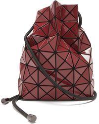 Bao Bao Issey Miyake Wring Drawstring Pvc Bucket Bag - Red