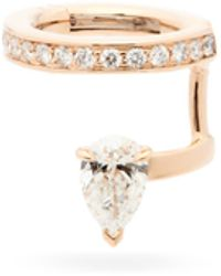 Repossi セルティ スー ヴィド ダイヤモンド 18kローズゴールドイヤーカフ - メタリック