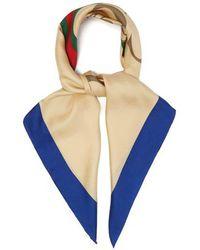 Gucci - Logo-print Silk-twill Scarf - Lyst