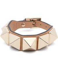 Valentino - Large Rockstud Leather Bracelet - Lyst