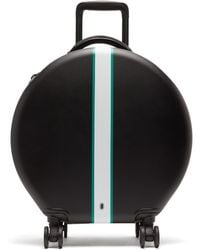 OOKONN Front Stripe Circular Check In Suitcase - Black