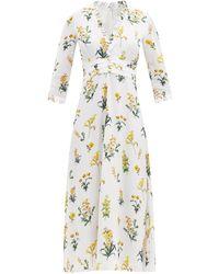 Goat - ローレル フローラルクレープドレス - Lyst