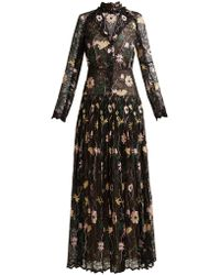 Giambattista Valli - Floral Embroidered Chantilly Lace Gown - Lyst