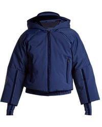 Fendi - Hooded Cropped Sleeve Down Ski Jacket - Lyst