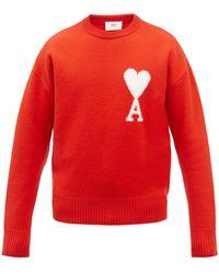 AMI De Coeur ウールセーター - レッド