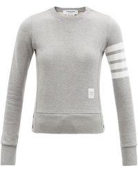 Thom Browne 4bar コットンスウェットシャツ - グレー