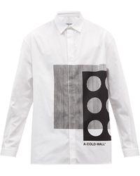A_COLD_WALL* * プロジェクション コットンポプリンシャツ - マルチカラー