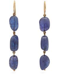 Jade Jagger Tanzanite & 18kt Gold Earrings - Blue