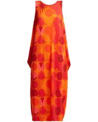 Issey Miyake - Sunlight Geometric Print Dress - Lyst