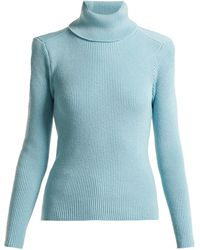 Balenciaga - Exposed Back Roll Neck Sweater - Lyst