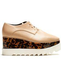 Stella McCartney - Elyse Lace-up Faux-leather Platform Shoes - Lyst