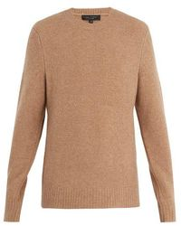 Rag & Bone - Charles Crew-neck Wool-blend Jumper - Lyst