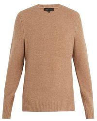 Rag & Bone - Charles Crew-neck Wool-blend Sweater - Lyst