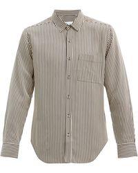 Equipment ストライプ ツイルシャツ - マルチカラー