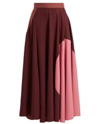 ROKSANDA - Milena Fluted Colour-block Cady Skirt - Lyst