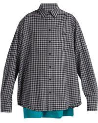 Balenciaga Double Layer Cotton Shirt - Gray