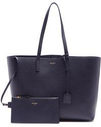 Saint Laurent - Medium Leather Tote - Lyst