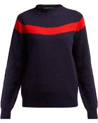 La Fetiche - Ossie Intarsia Stripe Wool Sweater - Lyst