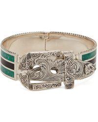 Gucci - Garden Enamel And Sterling-silver Bracelet - Lyst