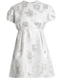 Emilia Wickstead Arielle Floral-jacquard Mini Dress - White