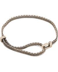 Title Of Work Macro Mesh Narrow Sterling Silver Bracelet - Metallic