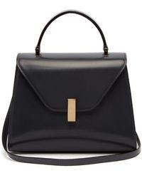 Valextra Iside Medium Leather Bag - Grey