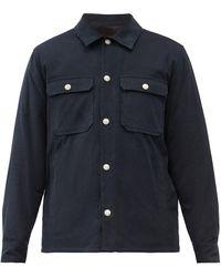 A.P.C. Alex Cotton-corduroy Overshirt - Blue