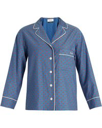 MUVEIL - Lip Print Contrast Piping Shirt - Lyst