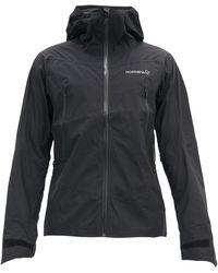 Norrøna Falketind Gore-tex Waterproof Hooded Jacket - Black